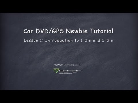 Car GPS DVD Tips: What is 1 Din & 2 Din, Single Din & Double Din 2013 Eonon