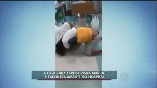 Vídeo: mulher visita marido no hospital e encontra amante