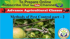 Methods of Pest Control part - 2 (Hindi/English) Agricultural Field Officer