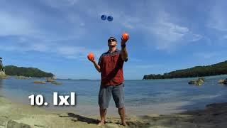 10  IxI | Жонглирование 4 мячами | [РУКИ ТРЮКИ] | JUGGLING LESSON