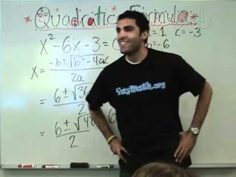 Algebra - Quadratic Formula
