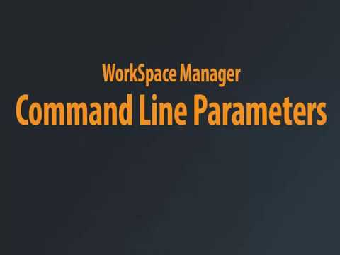 WorkSpace Manager - Command Line Parameters