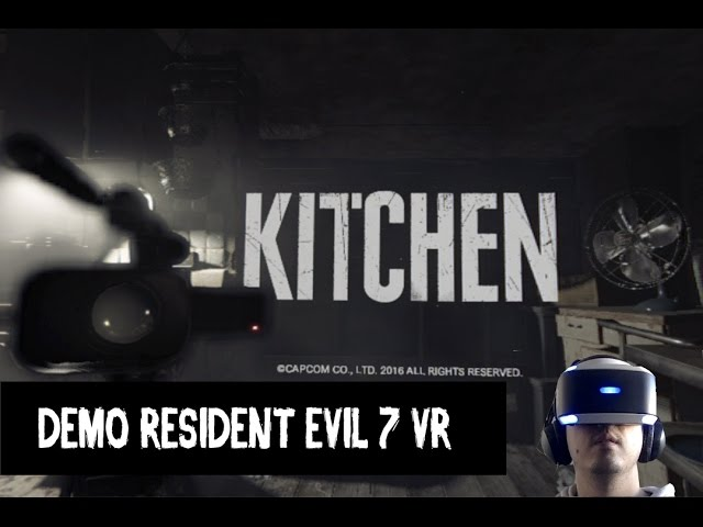Resident Evil 7 DEMO Kitchen com Playstation VR | Gameplay PT-BR