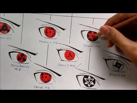 Drawing All Mangekyou Sharingan Forms | Evolution Of Sharingan | Kakashi Art