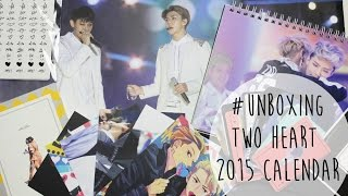 [Unboxing] Two Heart 2015 Calendar EXO Sehun & Tao