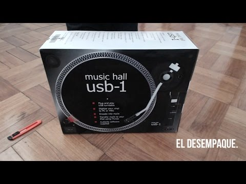 Tornamesa Music Hall USB-1 · Unboxing