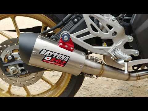 Daytona Exhaust On Yamaha R15 V3 Is LOUD | First Impressions