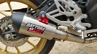 Daytona Exhaust On Yamaha R15 V3 Is LOUD   First Impressions