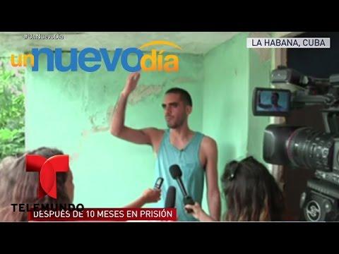 Liberan a artista cubano que pintó a los Castros | Un Nuevo Día | Telemundo