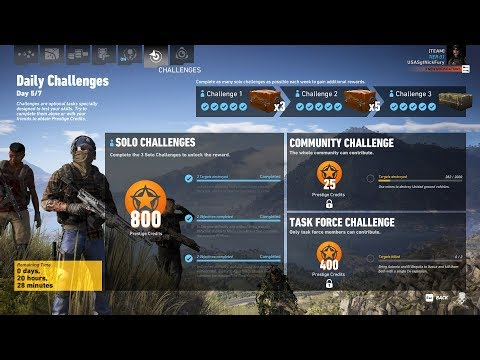 Ghost Recon Wildlands Daily Challenges Week 23 Day 5 Solo Challenge 3 The Resort NO HUD |