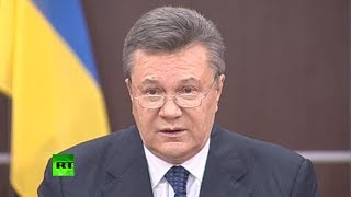 Yanukovich: Ukraine on brink of civil war after blood was spilt in east (FULL SPEECH)