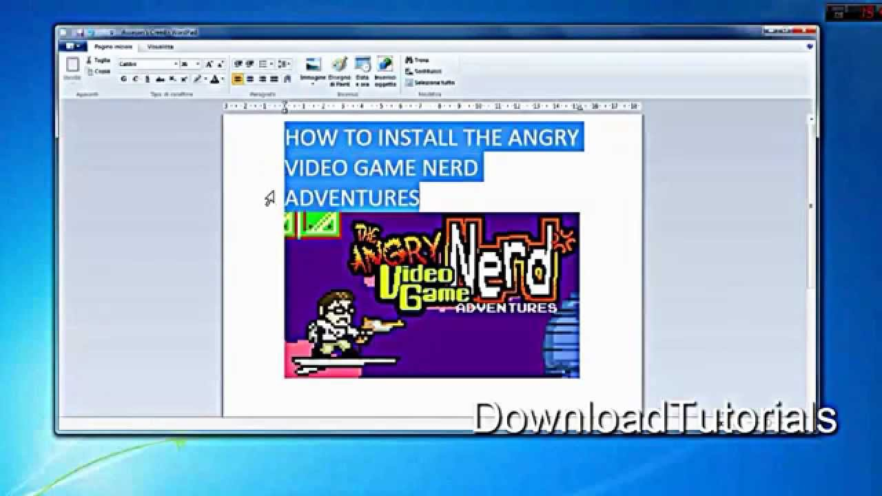Angry Video Game Nerd Adventures - Tutorial - Download Free - YouTube