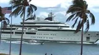 Megayacht Katara Arriving at Port Everglades - 5/17/2011