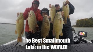 The best smallmouth bass lake in the world!