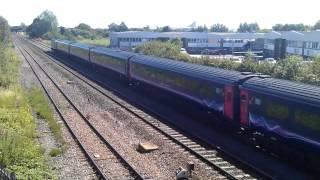 FGW Class 43 HST 43194 + 43070 pass near Swindon, 23/7/2012