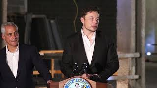 Rahm Emanuel and Elon Musk press conference