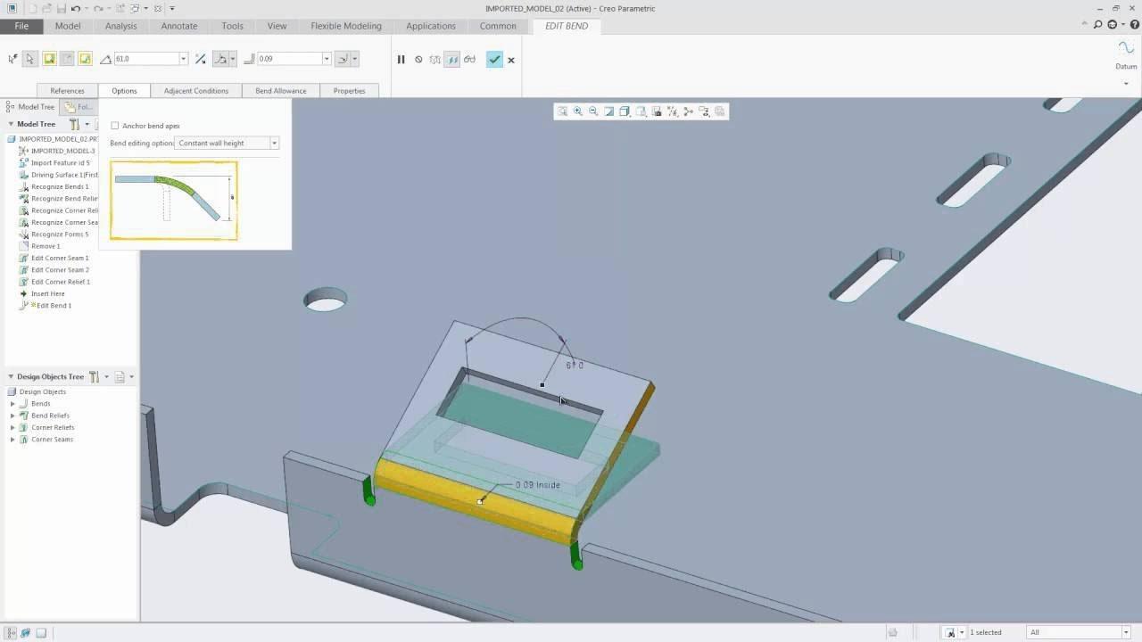 Tips & Tricks: Editing Sheet Metal Bends in Creo 4 0   PTC