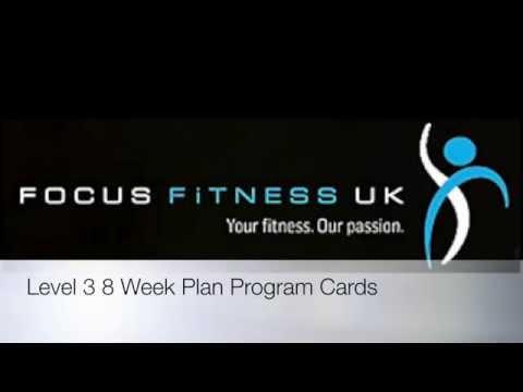 Level 3 8 Week Plan Program Cards