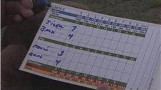 Golfing Scoring & Tips : How to Fill in a Golf Scorecard