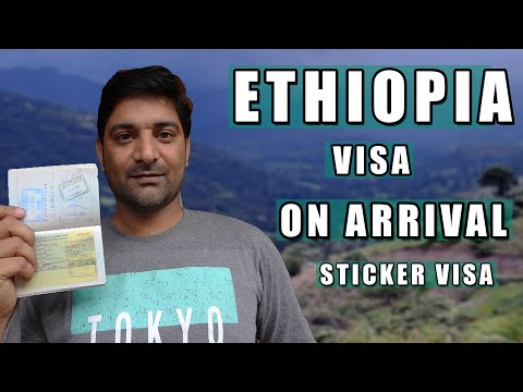 Ethiopia Sticker VISA On Arrival || Ethiopian EVISA Online || Process Documentation In Hindi ||