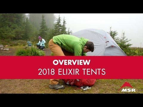 MSR's 2018 Elixir Tent Range