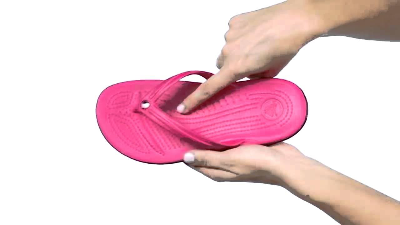 7dfd0ed1a Crocs Crocband Flip Sandals - YouTube