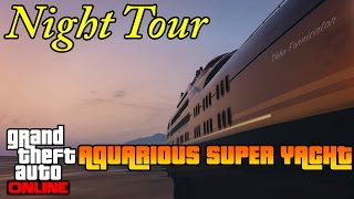 GTA 5 Online PS4 - Aquarius Super Yacht Tour (Night) + Photos
