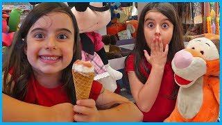 Rüya Dondurma Yiyor ve Oyuncakçıya Gidiyor l Rüya Eating Ice Cream and Goes To Toy Shop