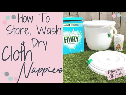 HOW TO WASH CLOTH NAPPIES | CLOTH NAPPY TUTORIAL | CLOTH DIAPER DEMO