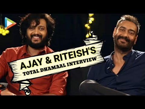 EXCLUSIVE: Ajay Devgn & Riteish Deshmukh's Total Dhamaal Interview on Aamir, Akshay, Ranveer