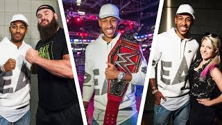 Aubameyang as WWE Universal champion?!
