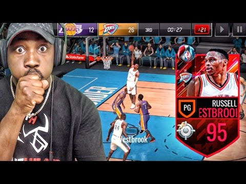 95 OVR TRIPLE-DOUBLE KING WESTBROOK IS UNBELIEVABLE! NBA Live Mobile 16 Gameplay Ep. 115