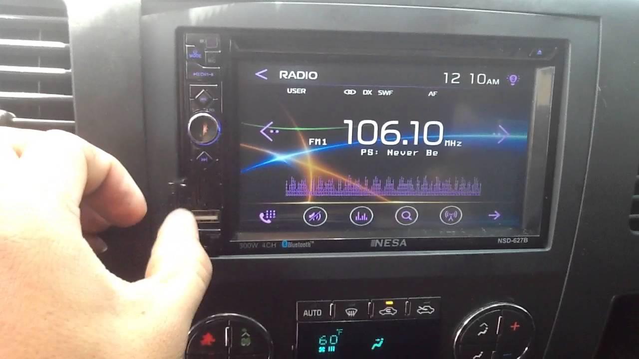 2011 Chevy Silverado Nesa Double Din Bluetooth Nsd 627b