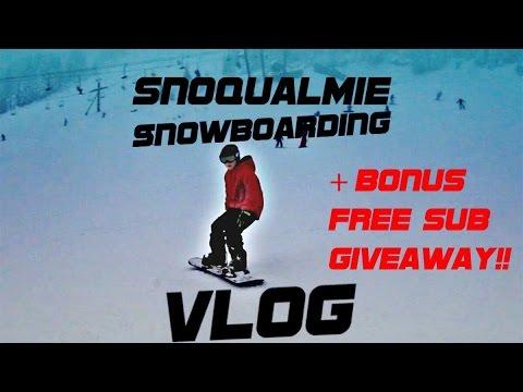 Snoqualmie Snowboarding VLOG!