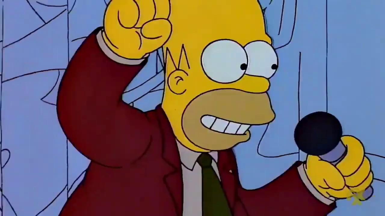 Callese hombre horrible - Los Simpson
