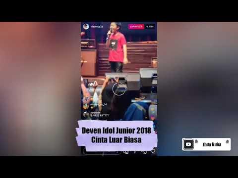 Deven Indonesian Idol Junior 2018 || Cinta Luar Biasa (Andmesh) || Live IG 22 Maret 2019