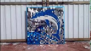 Наружная реклама дельфин(Вывеска из пайеток - новое в наружной рекламе ООО