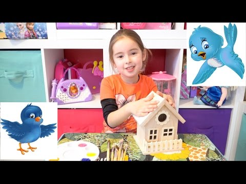 EASY ART PROJECT FOR KIDS – PAINTING WOODEN BIRDHOUSE