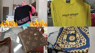 Trip To The Thirft #31 Supreme Louis Vuitton?!/TOMMY FIRE!!/$200 Chanel Piece!!!