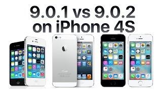 iPhone 4S iOS 9.0.2 vs iOS 9.0.1(, 2015-10-01T00:01:09.000Z)