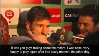 Lionel messi's first interview after breaking gerd müller's record