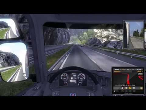 (58) Let's play: Euro Truck Simulator 2 with Trucksim Map 3.x Part: 58 Thessaloniki - Athina