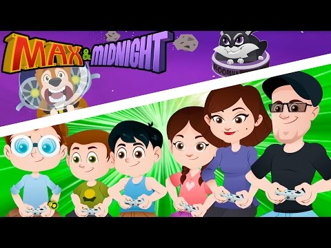 FAMILY FUN GAME NIGHT DISASTER? || Buster in Space For Kids!! - Max & Midnight Episode 3