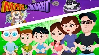 FAMILY FUN GAME NIGHT DISASTER? || Buster in Space Kids Animation!! - Max & Midnight Episode 3