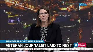 Karima Brown Laid To Rest