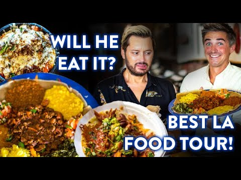 FLAMING Korean Stew, BEST Tacos & Ethiopian FEAST! Will Brian Dowling Eat It ALL?