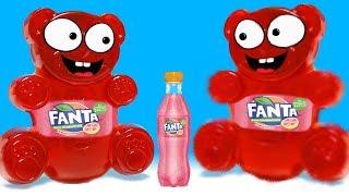 Wie macht man einen Lucky Bär aus Fanta? DiY