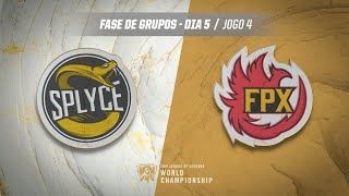 Mundial 2019: Fase de Grupos - Dia 5 | Splyce x FunPlus Phoenix (Jogo 4)