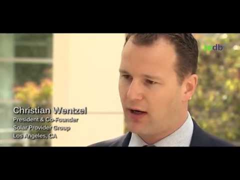 Christian Wentzel, President & CEO of Solar Provider Group