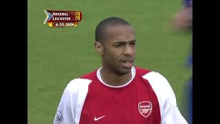 Arsenal 2-1 Leicester 2003/2004 First Half